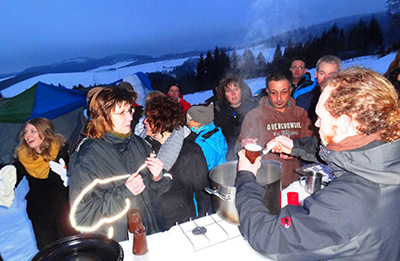 Schneebar Party / Winterevent-Konzept: